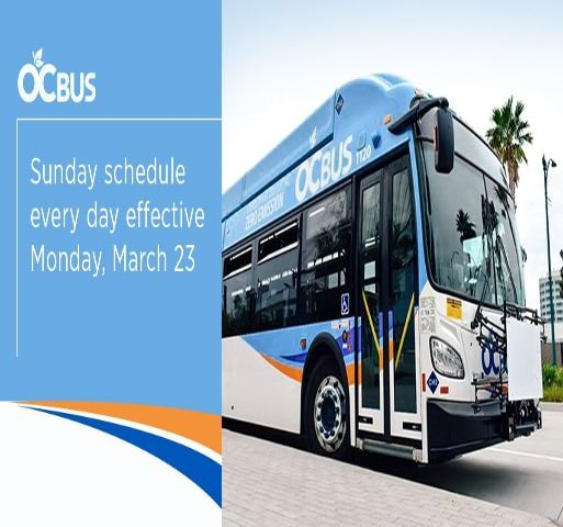 OCTA Service change graphic