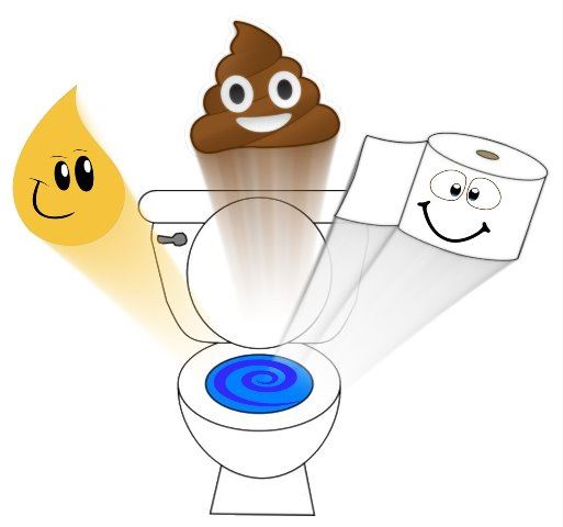 Pee poop paper graphic