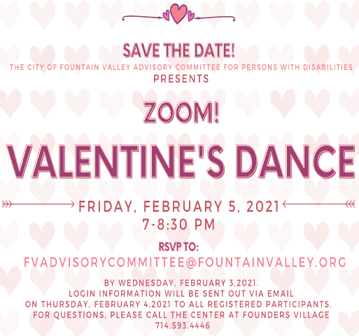 sweetheart dance social in pink text with info on how to register.