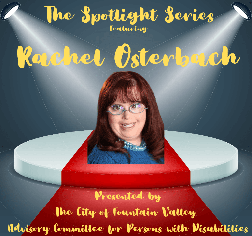 Spotlight Series - Rachel Osterbach shows Rachel headshot with spotlights shining from ceiling