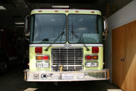 Front of the state-owned fire engine