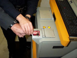 Getting a fingerprint taken