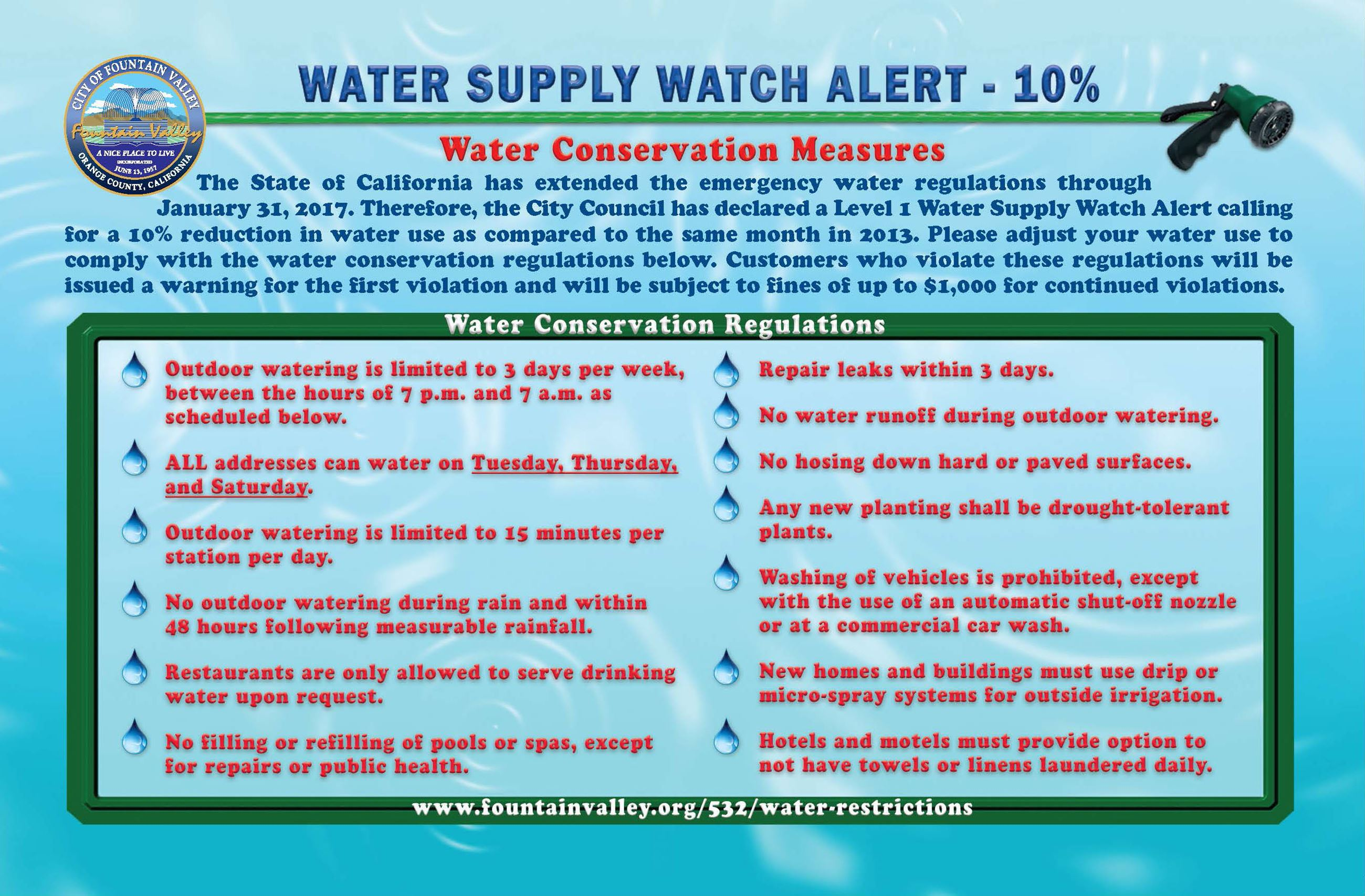 FV Water Conservation Regulations