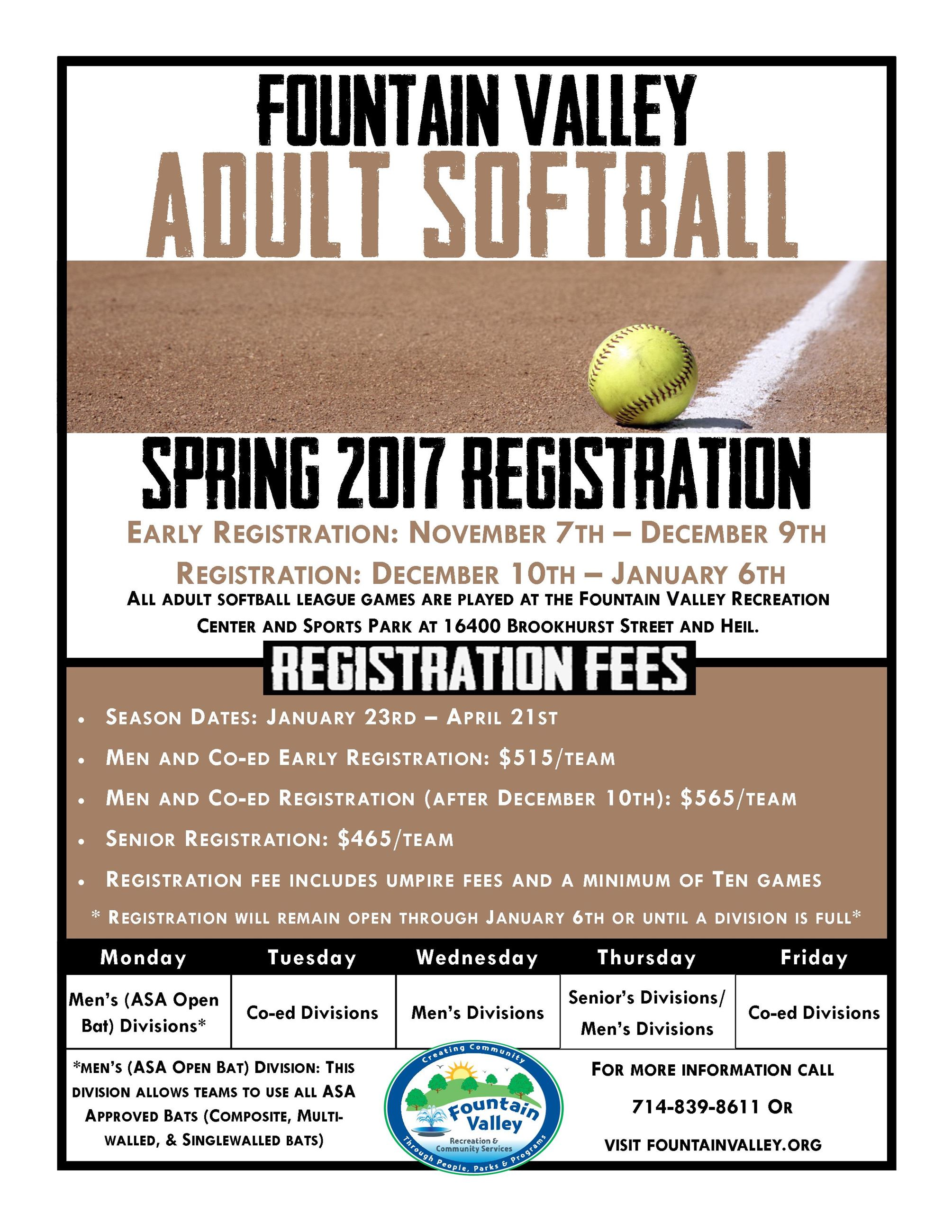 Softball Flyer Spring 2017