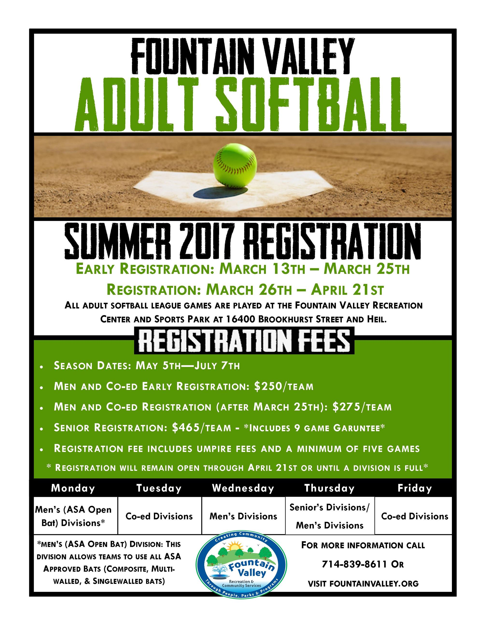 Softball Flyer Summer 2017