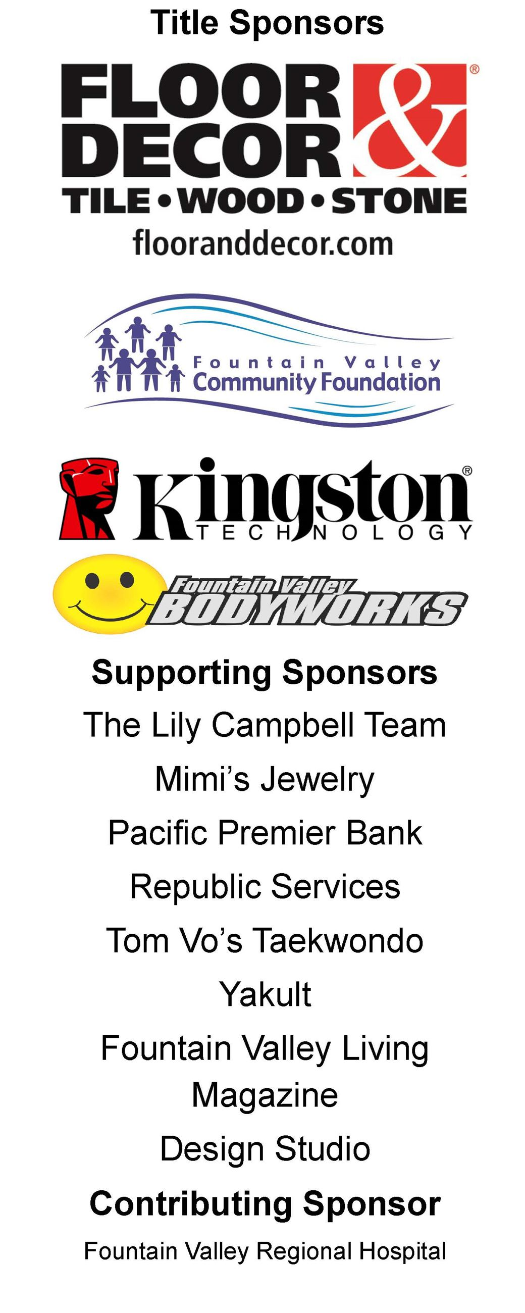 Sponsors for website