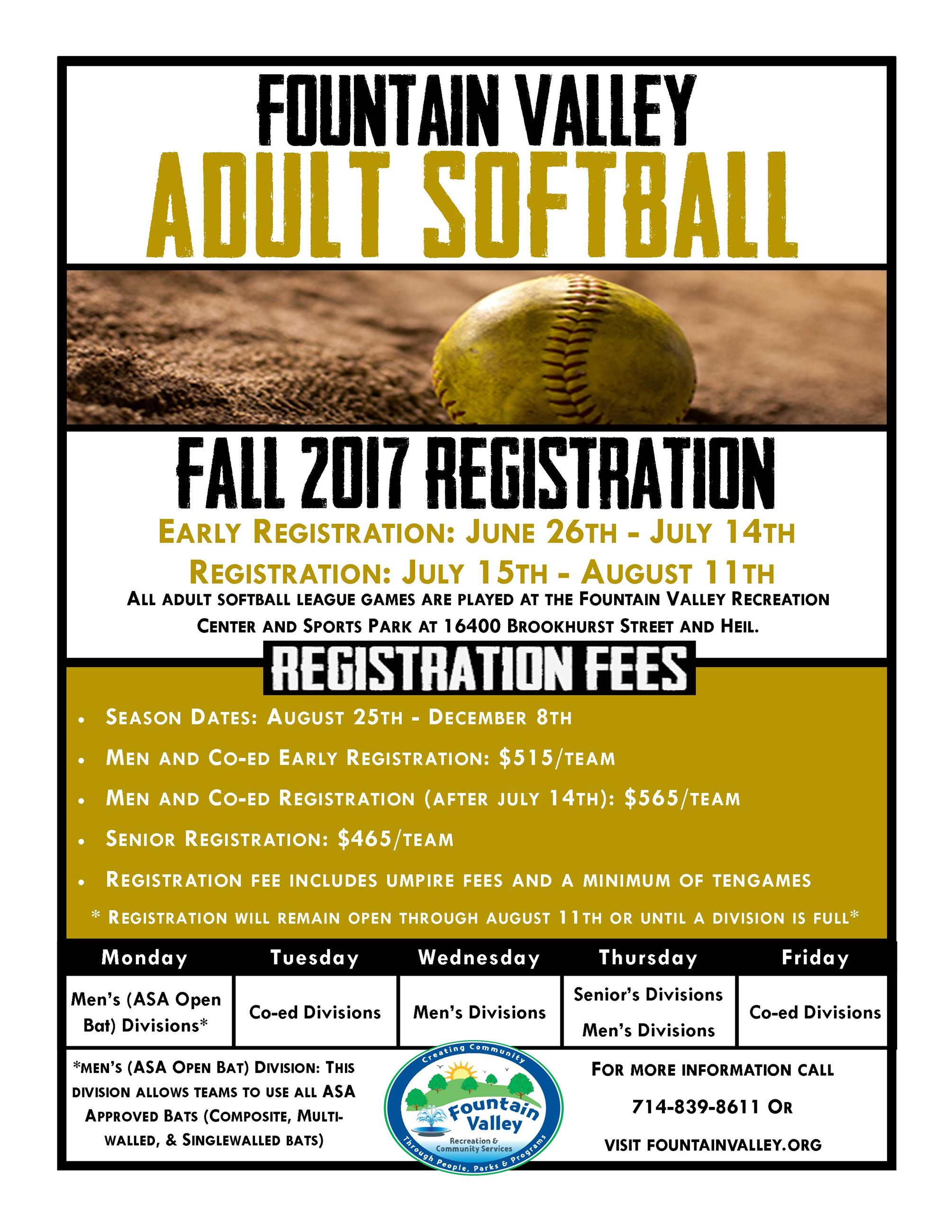 Softball Flyer Fall 2017