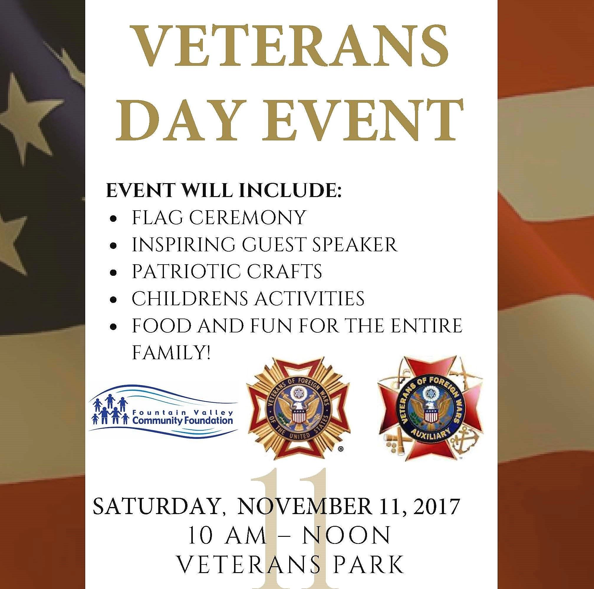 VFW Veterans Day Event Flyer 2017