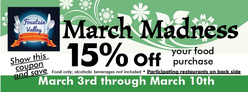 R.A. March Madness Promotion Coupon-2018