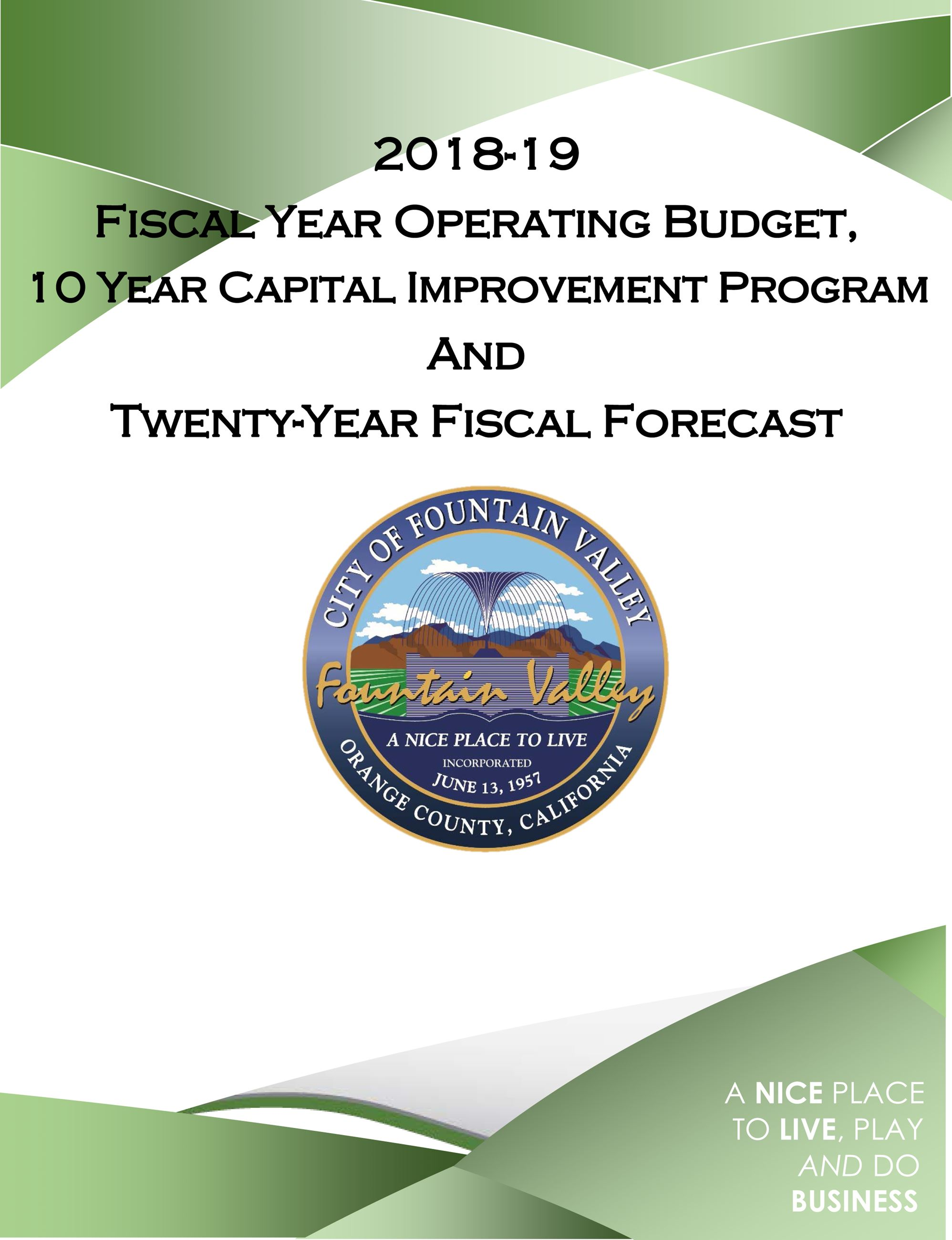 18-19 Budget Cover