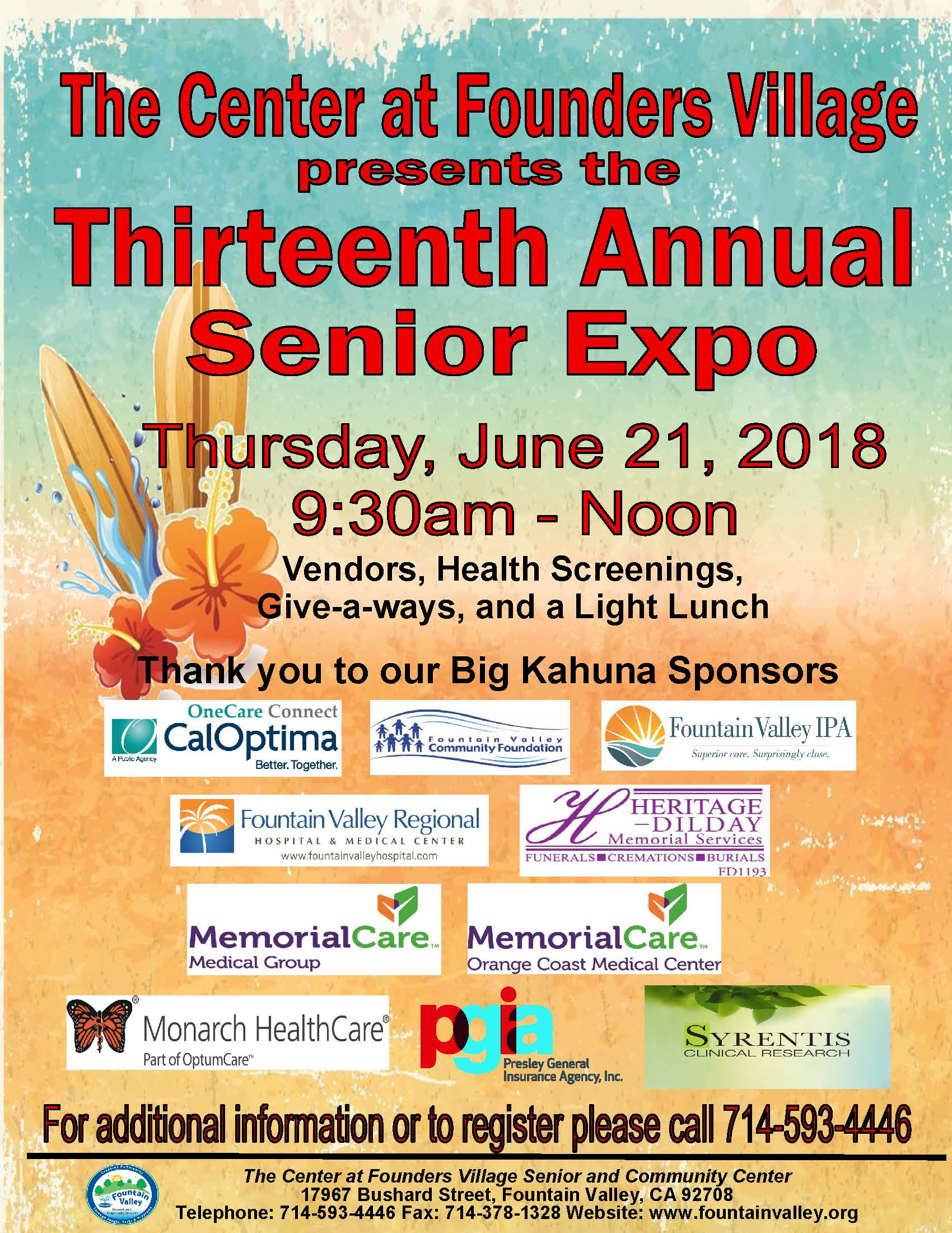 Senior Expo Flyer 2018