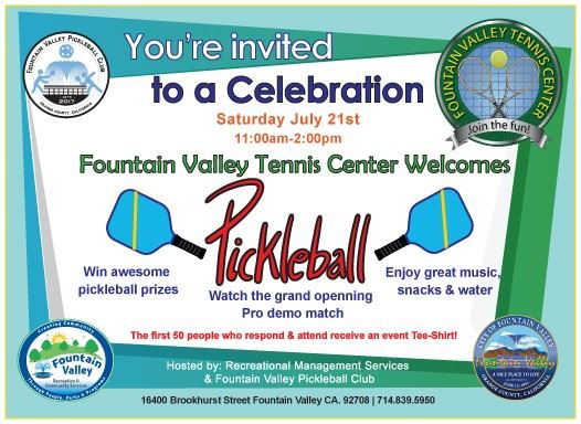Pickleball Grand Opening Event 7-21-18