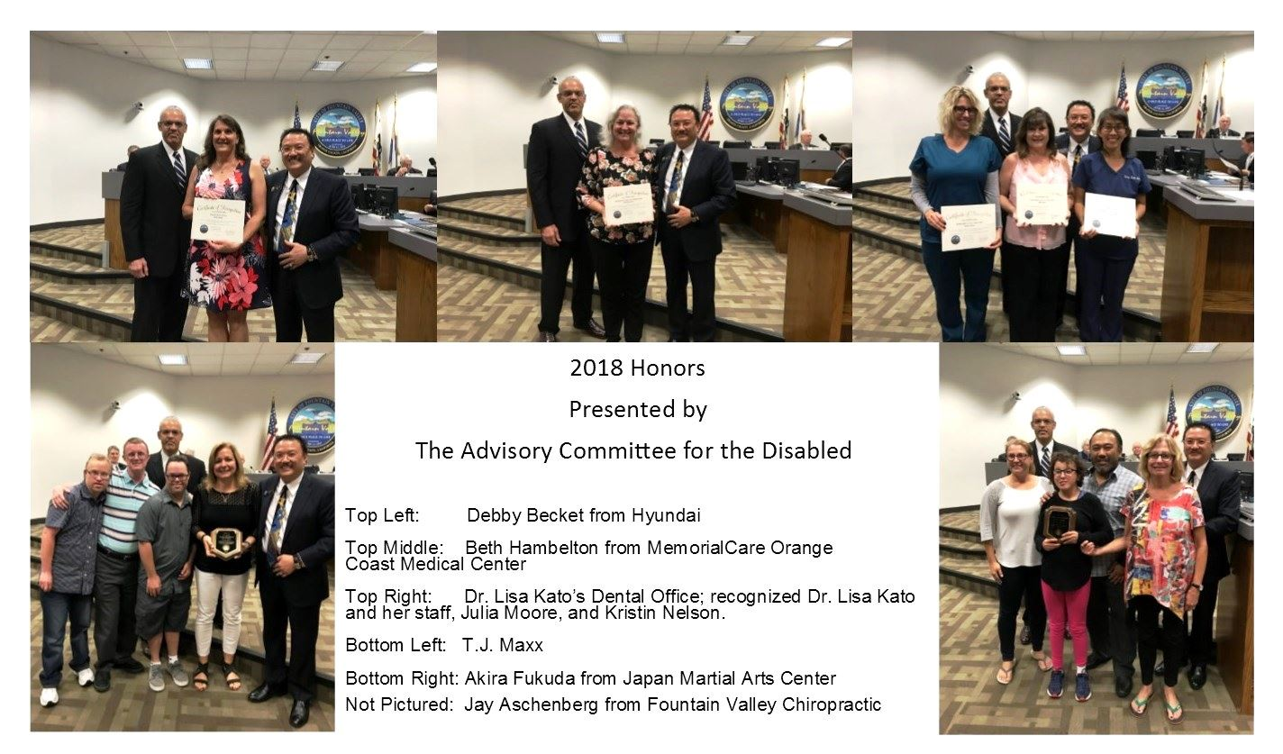 Disabled committee Honors 2018