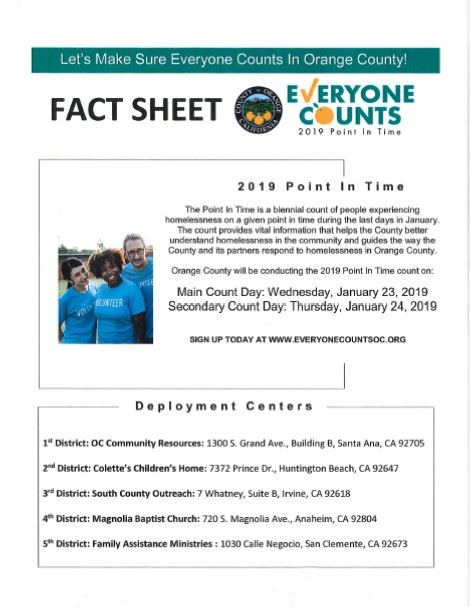 2019 Point in Time Fact Sheet_Front