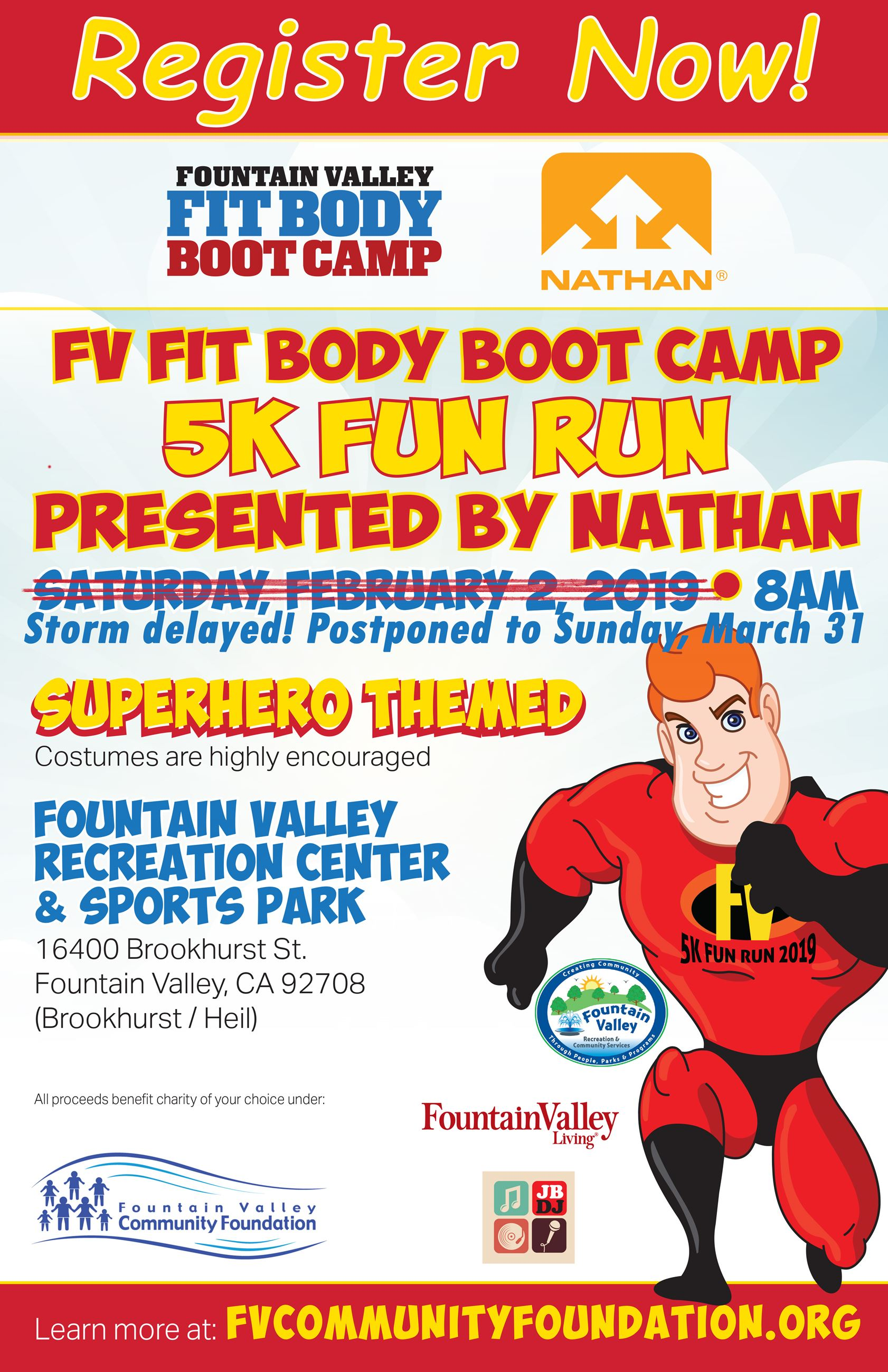 5K Flyer Register Now with new date