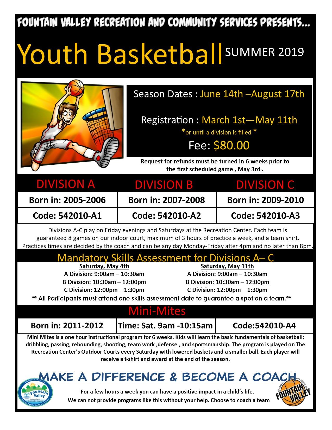 Youth Basketball Summer 2019 Flyer