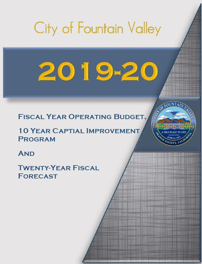 FY 19-20 Budget Cover
