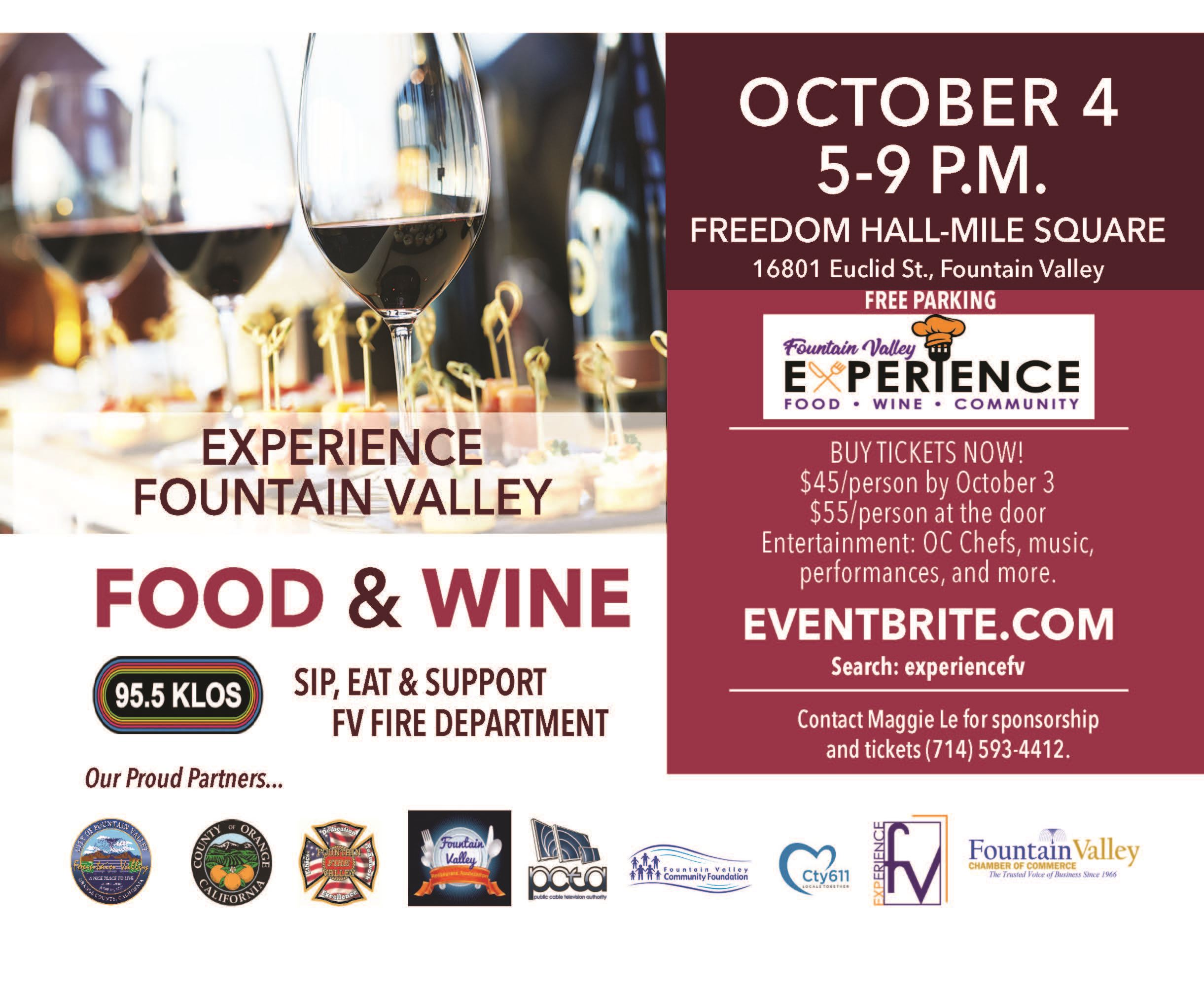 Experience FV Food & Wine Postcard Front