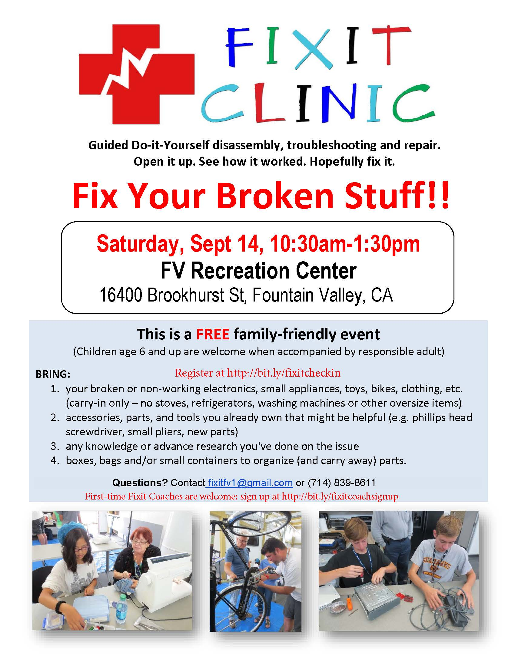Fix it Clinic Flyer 9-14-19