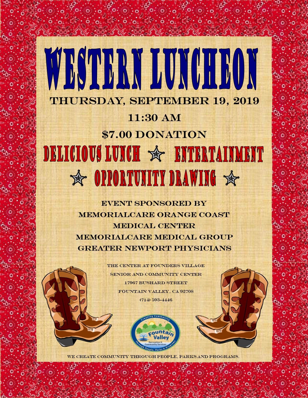 Western Luncheon Flyer