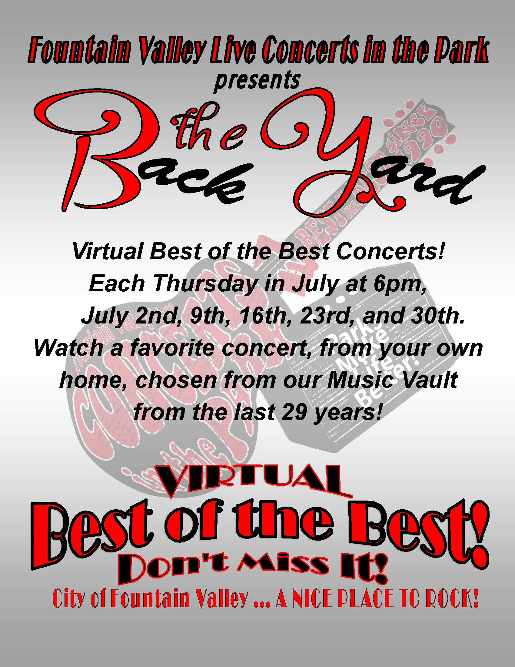 Virtual Best of the Best Concerts Flyer 6-16-2020