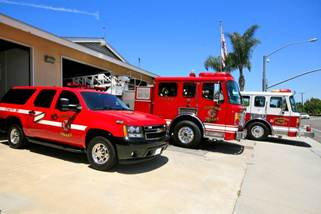 Line Up of Fire Station 1 Apparatus