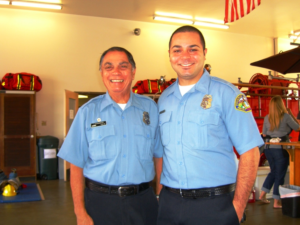 Two officers posing for picture