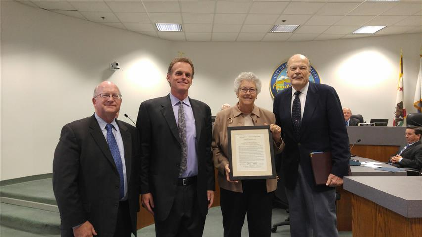 Award to the City Council for Water Conservation Efforts During the Drought presented by MWDOC