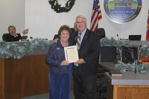 Chamber of Commerce President Recognized