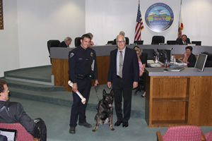 Mayor Honors Retiring Police Kanine