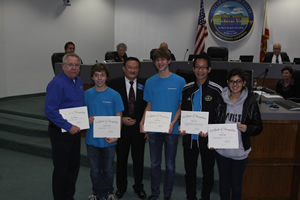 Mayor Vo Recognizes City High School Band Members