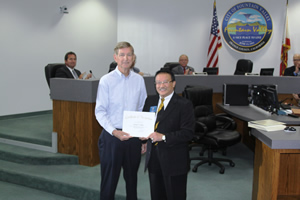 Mayor Vo Honors Outgoing Planning Commissioner
