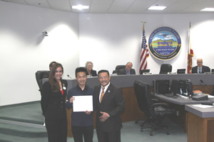 Mayor Vo Recognizes Disneyland Scholarship Winner