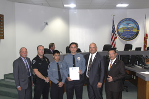 Mayor Vo Recognizes Police Explorers