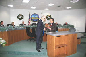 Recognizing Council Member McCurdy for Service